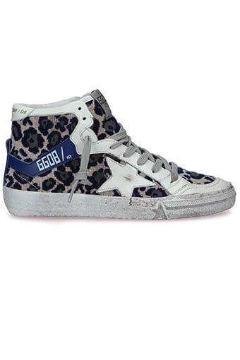 Golden Goose / Sneakers 2.12 velours léopard navy