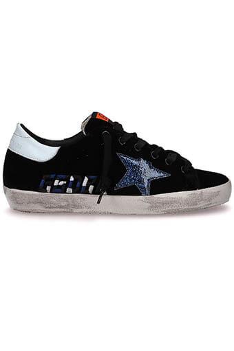 Golden Goose / Sneakers Superstar, black velvet