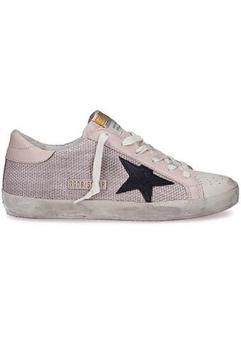 Golden Goose / Sneakers Superstar, maille rose