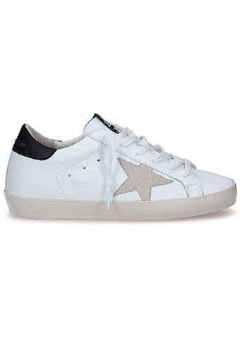Golden Goose / Sneakers Superstar, cuir blanc patch noir