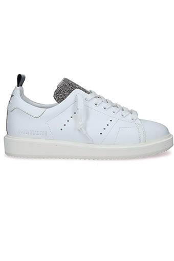 Golden Goose / Sneakers Starter White-cristal glitter