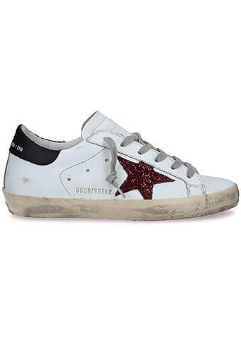 Golden Goose / Sneakers Superstar, étoile pailletée rouge