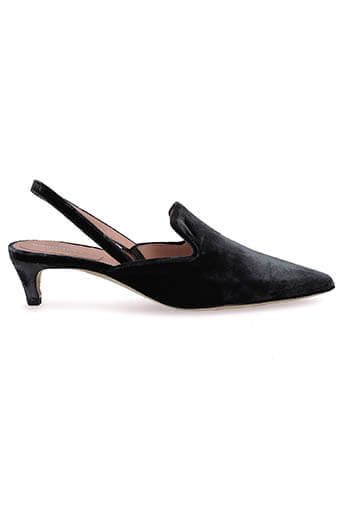 Alberta Ferretti / Mule en velours gris