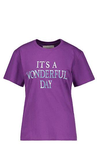 Alberta Ferretti / Tee-shirt It's Wonderful Day, violet