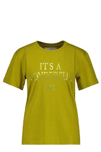 Alberta Ferretti / Tee-shirt It's Wonderful Day, jaune