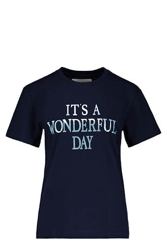 Alberta Ferretti / Tee-shirt It's Wonderful Day, navy