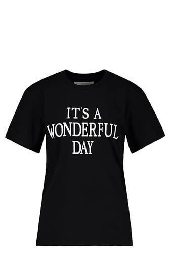 Alberta Ferretti / Tee-shirt It's Wonderful Day, noir