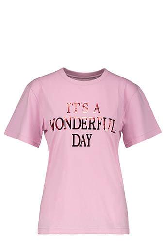 Alberta Ferretti / Tee-shirt It's Wonderful Day, rose