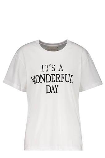 Alberta Ferretti / Tee-shirt It's Wonderful Day, blanc