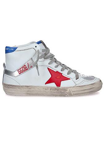 Golden Goose / Sneakers 2.12 bleu blanc rouge
