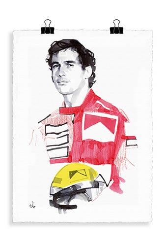 Image Republic / Portrait Ayrton Senna A3