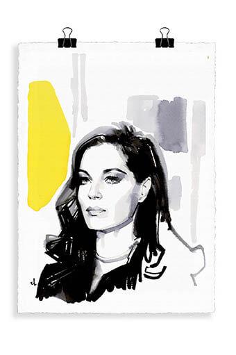 Image Republic / Portrait Romy Schneider noir et blanc R4