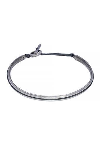 M.Cohen / Bracelet Slim Oval Silver Cuff