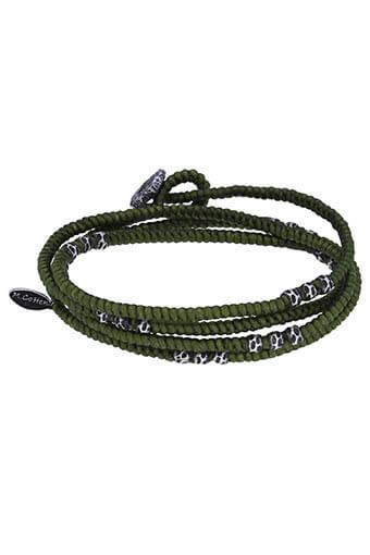 M.Cohen / Bracelet Layer Knotted Wrap Silver Bead