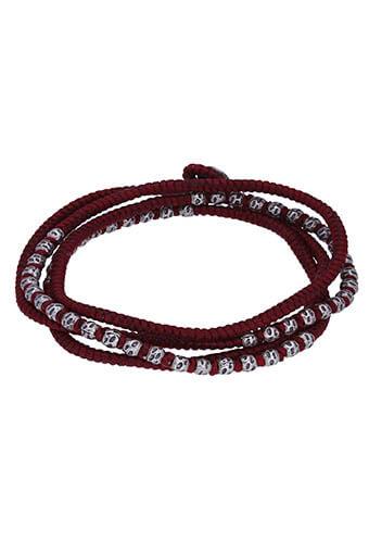 M.Cohen / Bracelet Three Wrap Hammered Bead