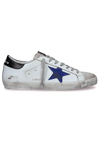 Golden Goose / Sneakers Superstar, étoile bleue suédée
