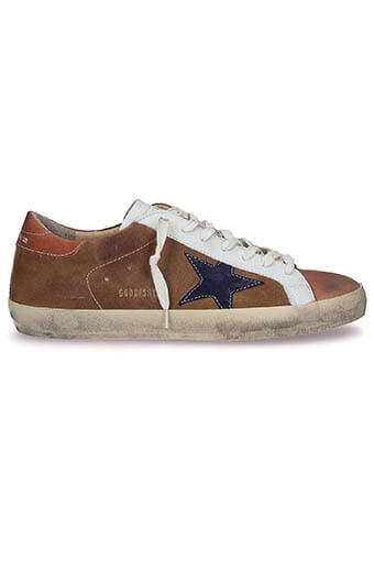 Golden Goose / Sneakers Superstar, étoile indigo