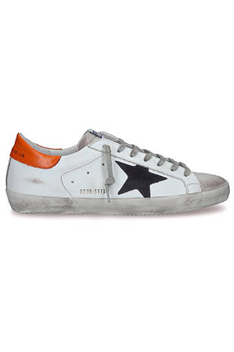 Golden Goose / Sneakers Superstar, patch orange