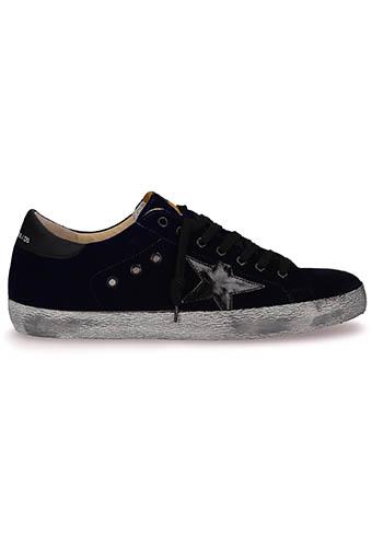 Golden Goose / Sneakers Superstar, blue velvet