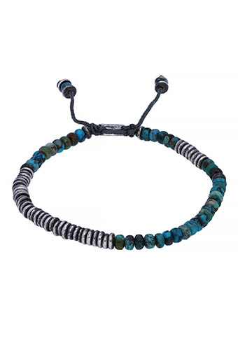 M.Cohen / Bracelet Round table stacked Turquoise