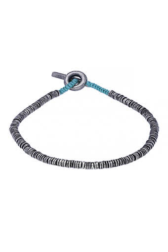 M.Cohen / Bracelet Mini Sterling bleu