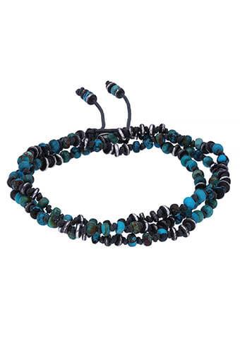M.Cohen / Collier/Bracelet Four layer templar  turquoise