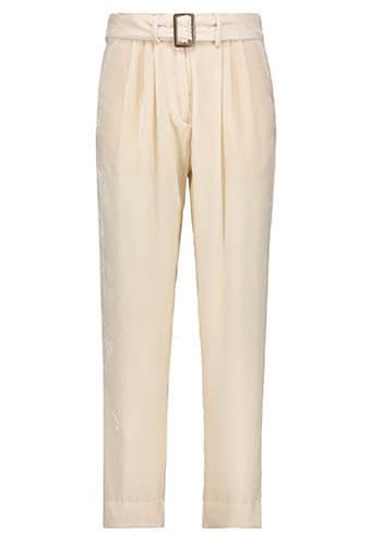 Forte Forte / Pantalon à pinces en velours, nacre