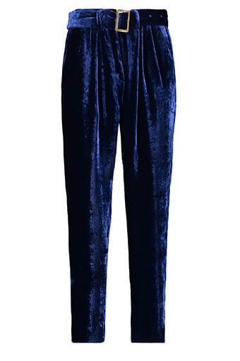 Forte Forte / Pantalon à pinces en velours, bleuet