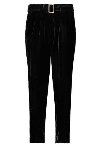 Forte Forte / Pantalon à pinces en velours, noir