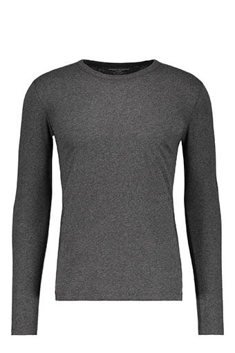 Majestic Filatures / Tee-shirt col rond anthracite chiné