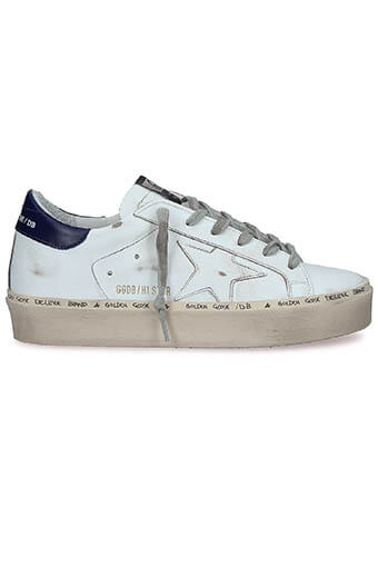 Golden Goose / Sneakers Hi Star White-Blue