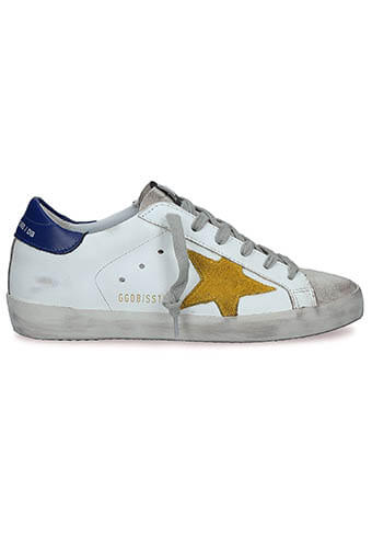 Golden Goose / Sneakers Superstar White - Blue - Sun