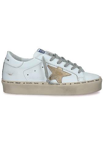 Golden Goose / Sneakers Hi Star White-Gold