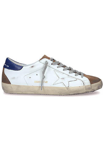 Golden Goose / Sneakers Superstar Patch Bleu Etoile blanche homme