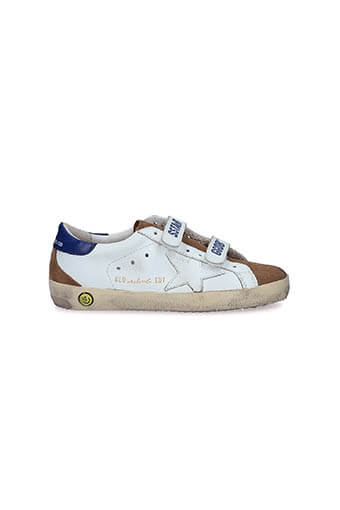 Golden Goose / Sneakers Superstar Patch Bleu Etoile blanche enfant