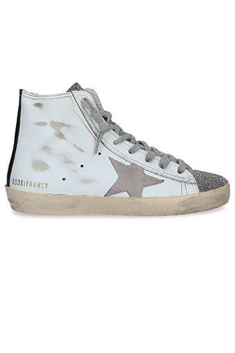 Golden Goose / Sneakers Francy White- glitter crystal