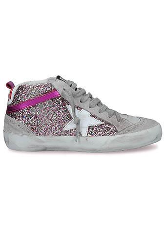 Golden Goose / Sneakers Mid Star Multicolor glitter- white
