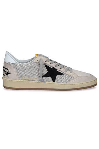 Golden Goose / Sneakers Ball Star, maille et cuir ivoire
