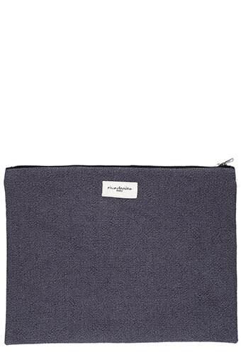 Rive Droite Paris / Grande pochette Barbette, gris ardoise