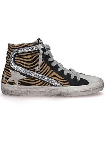 Golden Goose / Sneakers Slide coffee zebra- ice