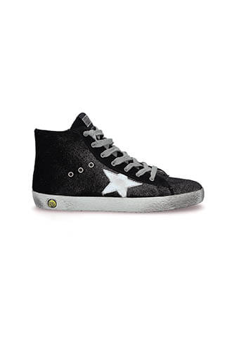 Golden Goose / Sneakers Francy Lurex noir, enfant
