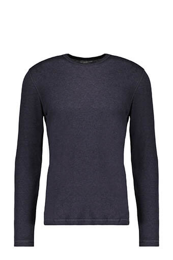 Majestic Filatures / Tee-shirt col rond marine flanelle