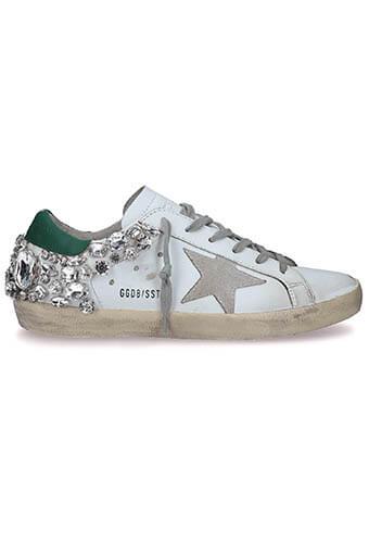 Golden Goose / Sneakers Superstar Green-Diamonds