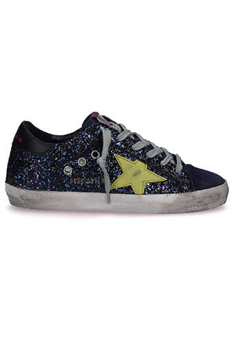 Golden Goose / Sneakers Disco Glitter-green Star