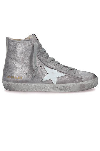 Golden Goose / Sneakers Francy Silver Suede-White Shearling