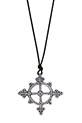 Catherine Michiels / Silver Chakra Amulet with black Diamond
