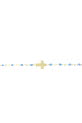 Gigi Clozeau / Bracelet or jaune, perles de résine et croix