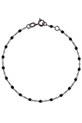 Gigi Clozeau / Bracelet or gris avec chaine noircie et perles résine noire