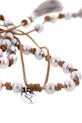 Chan Luu / Collier en cuir et perles grises