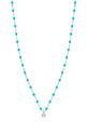 Gigi Clozeau / Collier or gris, perles de résine et diamant